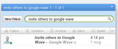 invite others to Google wave