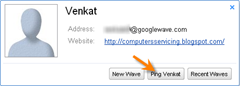 Ping Name in Google Wave