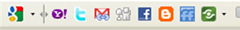 Google Toolbar with share button