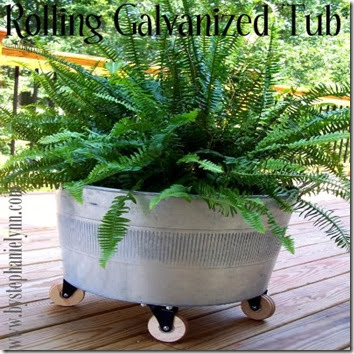 galvanized bucket flower pot