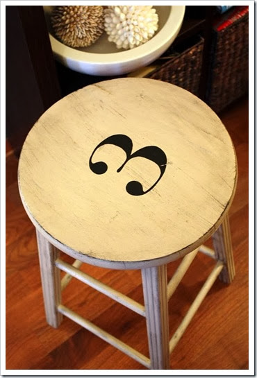 numbered stool