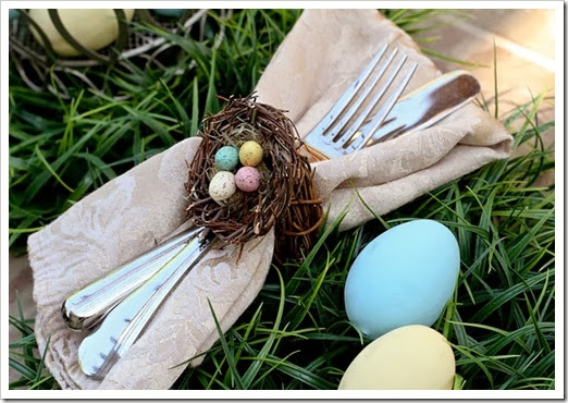easter egg napkin ring