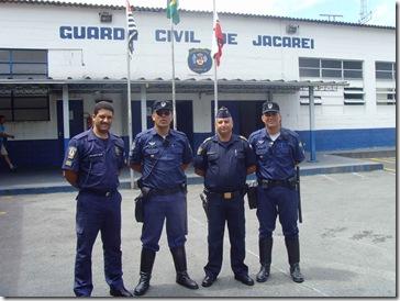 Carlinhos Silva,GCM Eder da Guarda de Caçapava, CMT Marcel de Jacaréi e Leonardo da Guarda de Caçapava