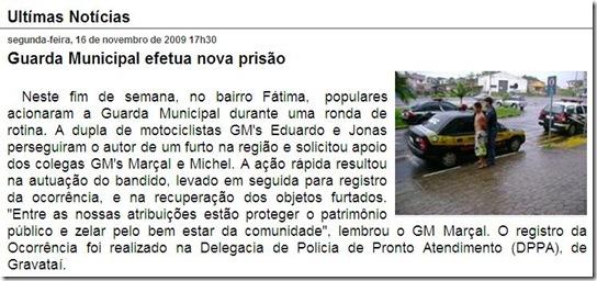 Novas noticias da GM de Cachoeirinha-RS