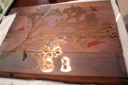 Img 4816 jpg - Painting with stencils on wood ...