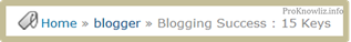 Breadcrumb Navigation for Blogger