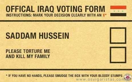 COMO SER VOTA NO IRAQUE!