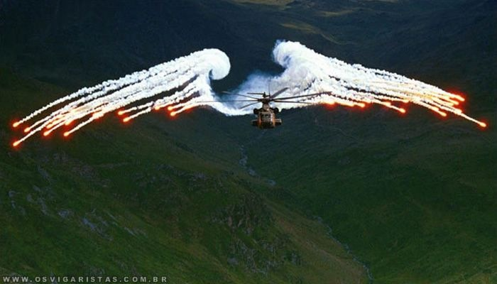 asas do helicoptero