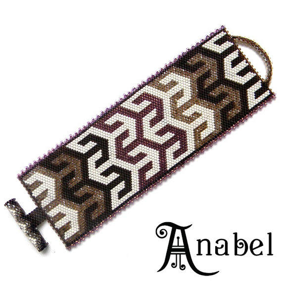 купить этнические украшения украина браслет из бисера миюки делика с арабским орнаментом Anabel