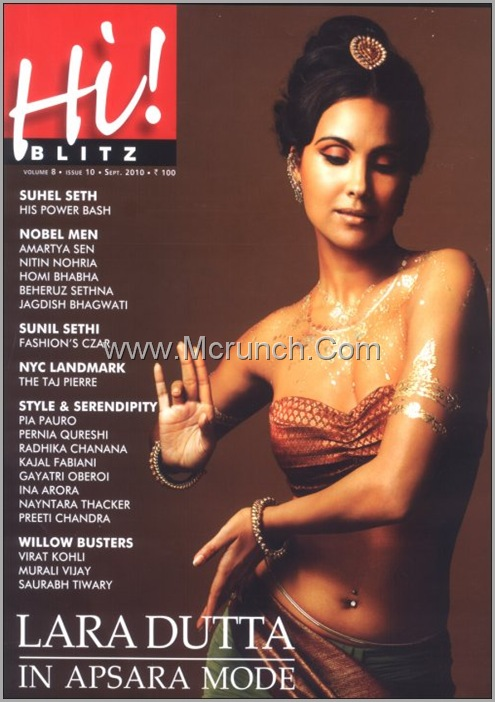 lara dutta hi blitz magazine september 2010
