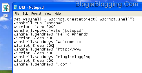 Type Automatically in Notepad vbs trick