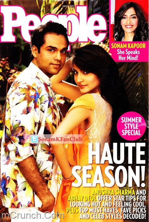 Anushka Sharma abhay Deol People Magazine April 2011
