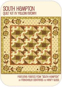 South Hampton Quilt Kit Yellow/Brown
