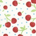 Oh-Cherry-Oh! Dots of Cherries White/Turquoise