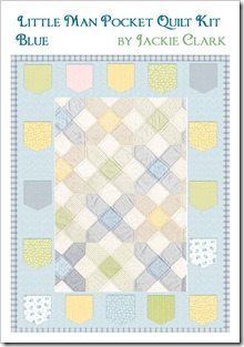 Little Man Pocket Quilt Kit - Blue
