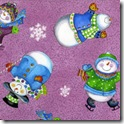 Winter Joy - Snowman Toss Plum #219-3