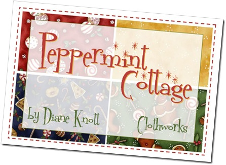 Peppermint Cottage by Diane Knott forClothworks