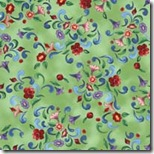 Angels Among Us - Floral & Scroll Green #20852-H