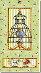 Tiny Tailors - Birdhouse Crib Panel #20986-G