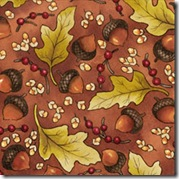 Cinnamon Spice - Leaves & Acorns Rust #226-51