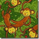Safari So Good - Swinging Monkeys Green #433G