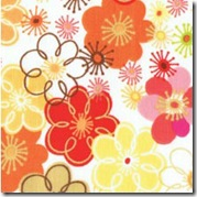 Wild Thyme - Medium Floral Orange #248O
