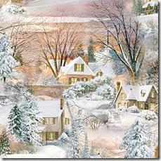 Winter's Gleam - Village Scenic #21-152