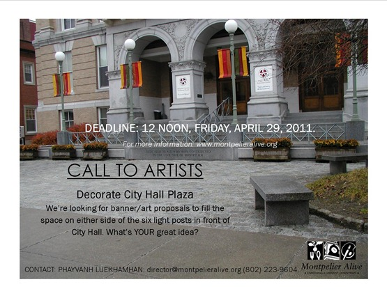 Poster for Art Contest city Hall Plaza
