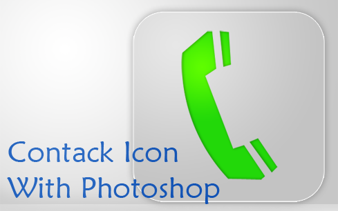 contack icon dengan photoshop