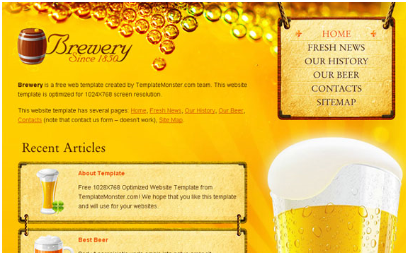 beer website template tutorial web desain