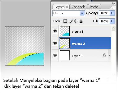 delete warna pada layer