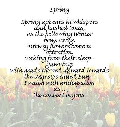 Spring-Poem