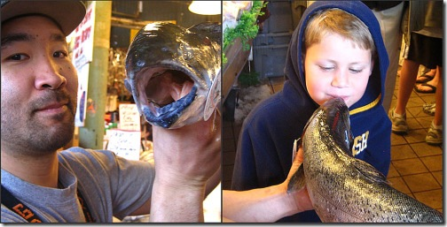 Picnik collage kissing fish
