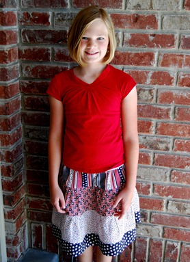 fashion gifts for a little girl: tiered skirt tutorial