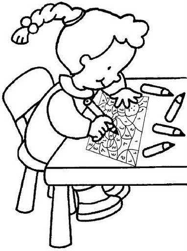 Niño en su computadora para colorear - Imagui