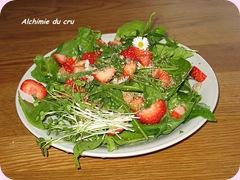 salade merveille de fraise et herbes sauvages 640x480