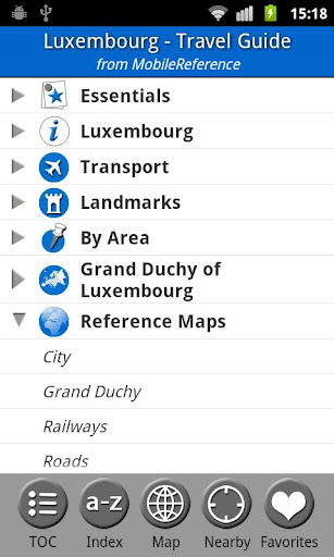 Luxembourg Travel Guide Map