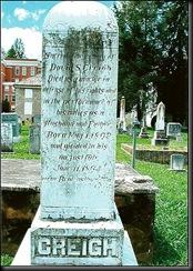 David Creigh's tombstone