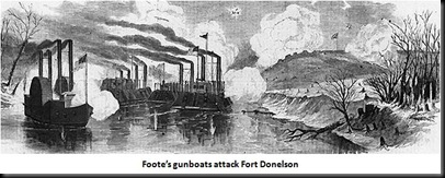 gunboats attack Donelson