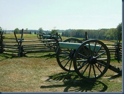 Confederate battery on Seminary Ridge