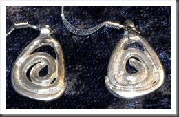SilverHieroglyphEarrings