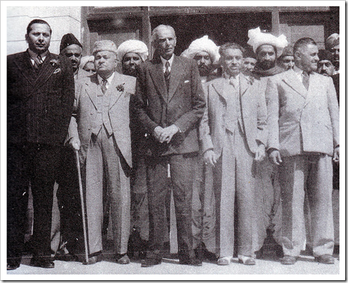 Quaid-e-Azam with Sindh Assembly members in 1946