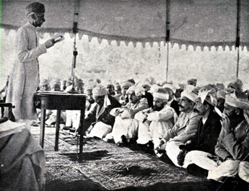 Quaid-e-Azam is addressing Tribals