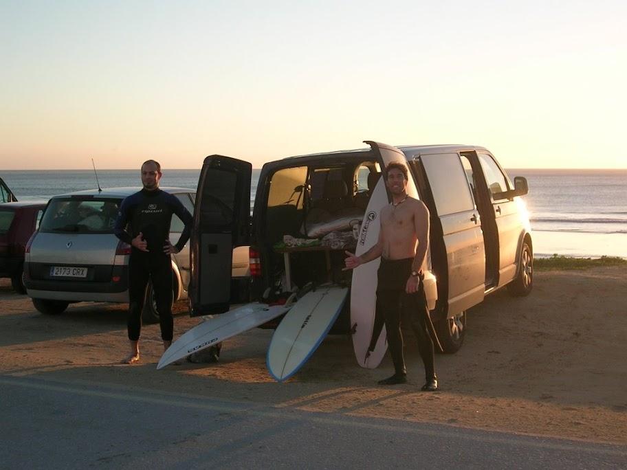 Después del surf en el Palmar