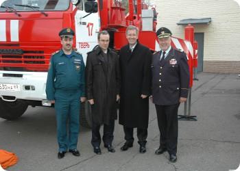 Кристиан Вульф посетил управление МЧС по Тверской области