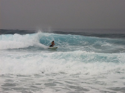 Tim surfing Jamaica
