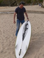 "Tim Stafford Custom Surfboards - Cornwall UK, 6'4"" bonzer EVO3 double wing pintail for Anthony"
