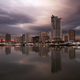 after the storm by Nayr Razaec Orednal - City,  Street & Park  Skylines ( sunset, long exposure, cityscape, philippines, city )