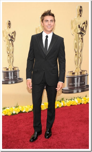 Actor Zac Efron arrives at the 82nd Annual Academy Awards at the