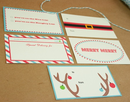 Whiskers graphics Holiday-tags